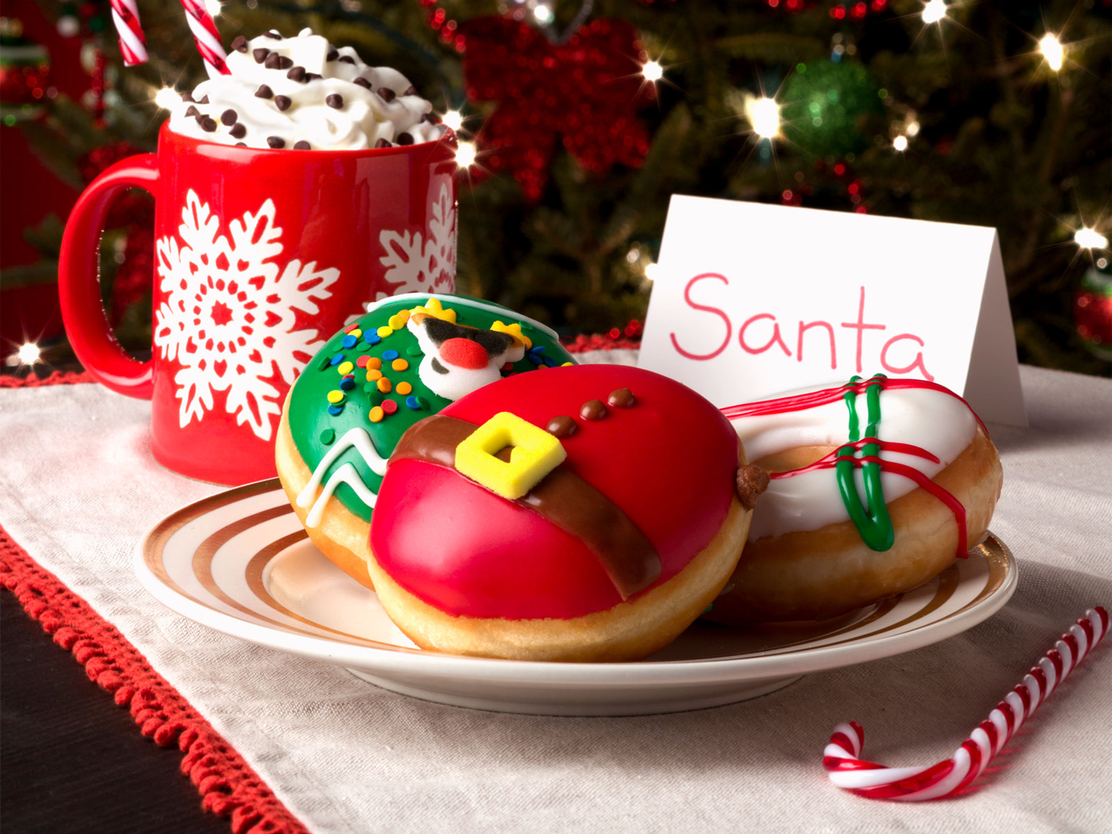 Krispy Kreme Ugly Holiday Sweater Doughnuts
