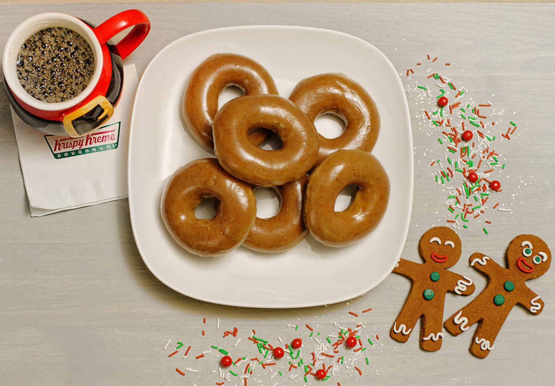 Krispy Kreme's Gingerbread Doughnuts Are Coming Back