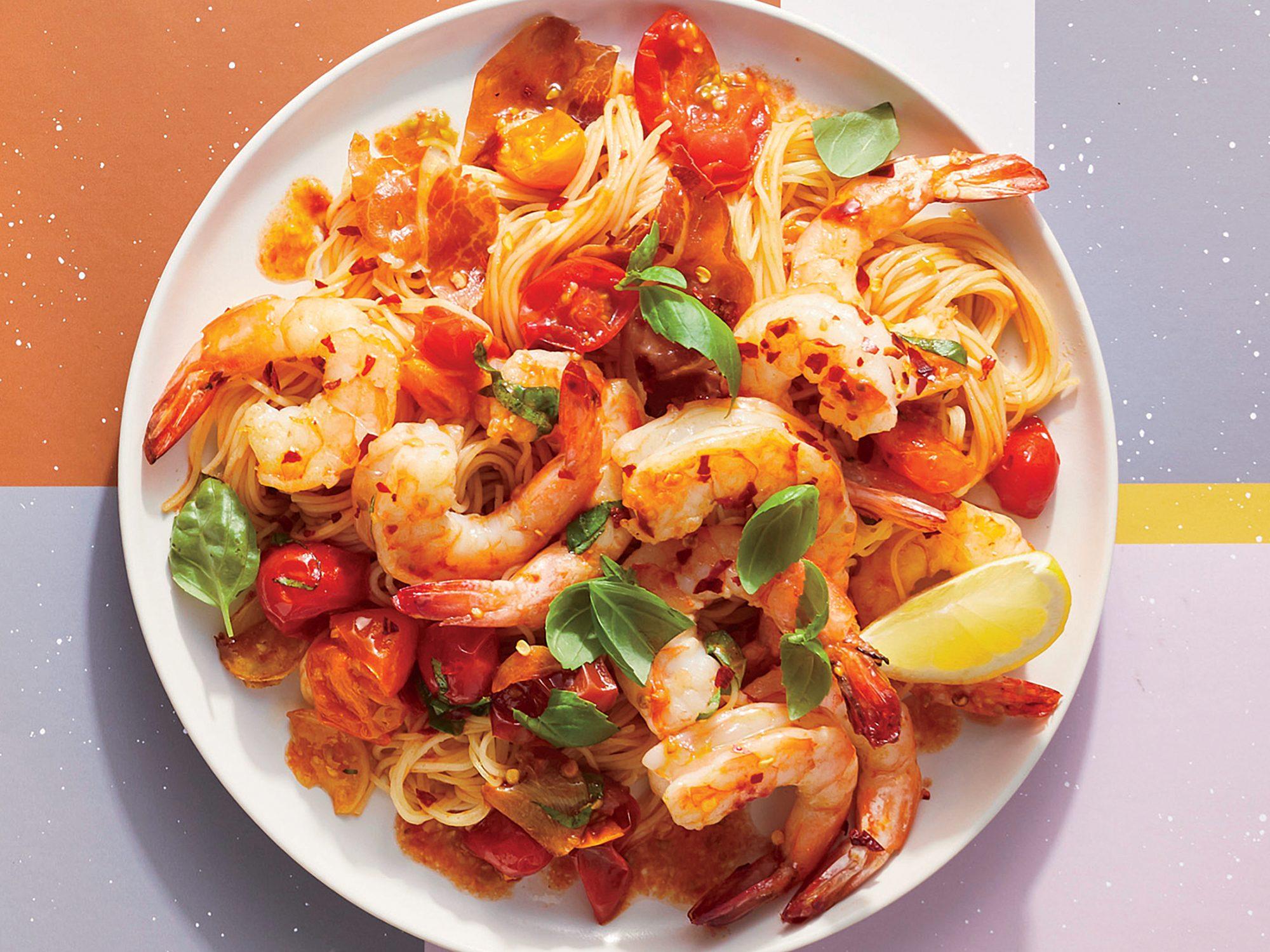Simple Lemon, Shrimp, and Prosciutto Pasta