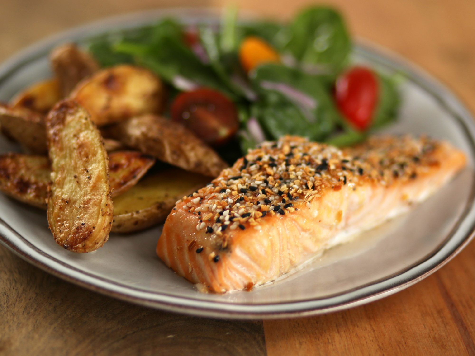Everything Bagel Roasted Salmon