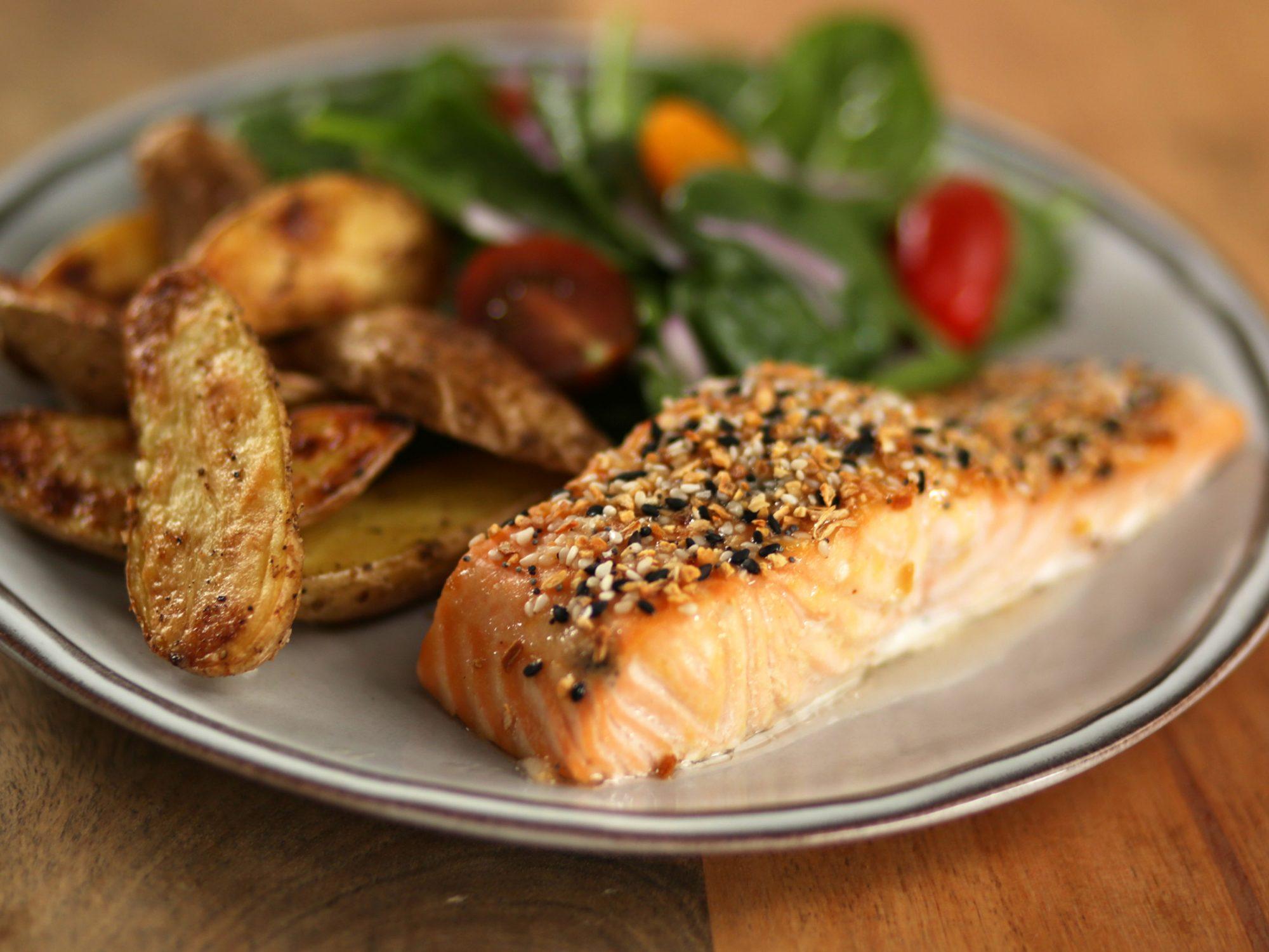 Everything Bagel Roasted Salmon image