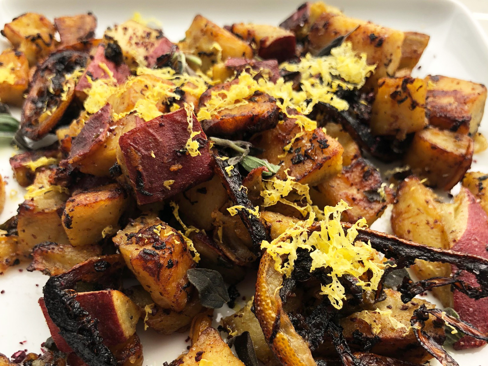 Instant Pot Crispy Breakfast Japanese Sweet Potatoes
