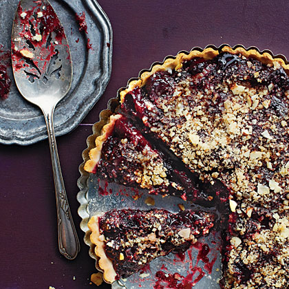 <p>Cherry Tart with Almond Streusel Topping</p>