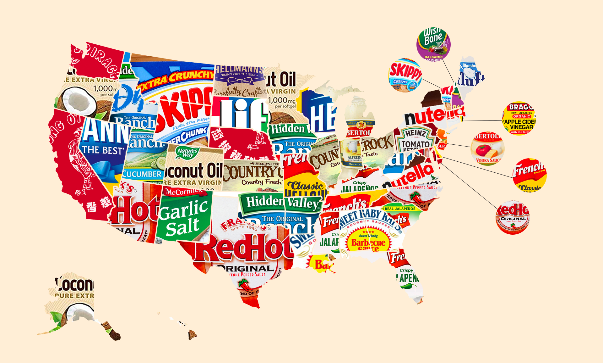 What the Top Condiment in Every State Says About America