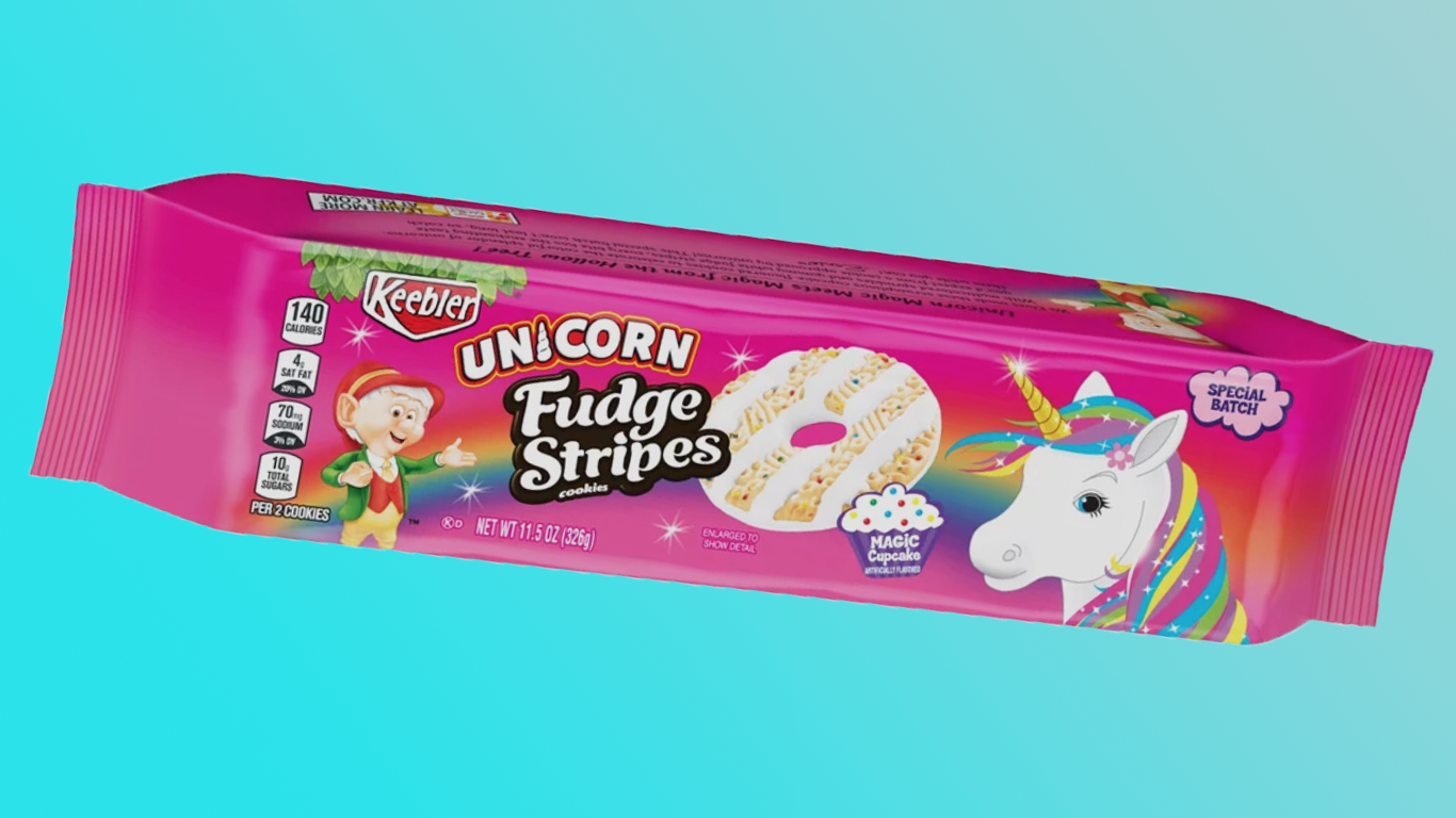Keebler's New Unicorn Cookies Look Like Lisa Frank's Fever Dream