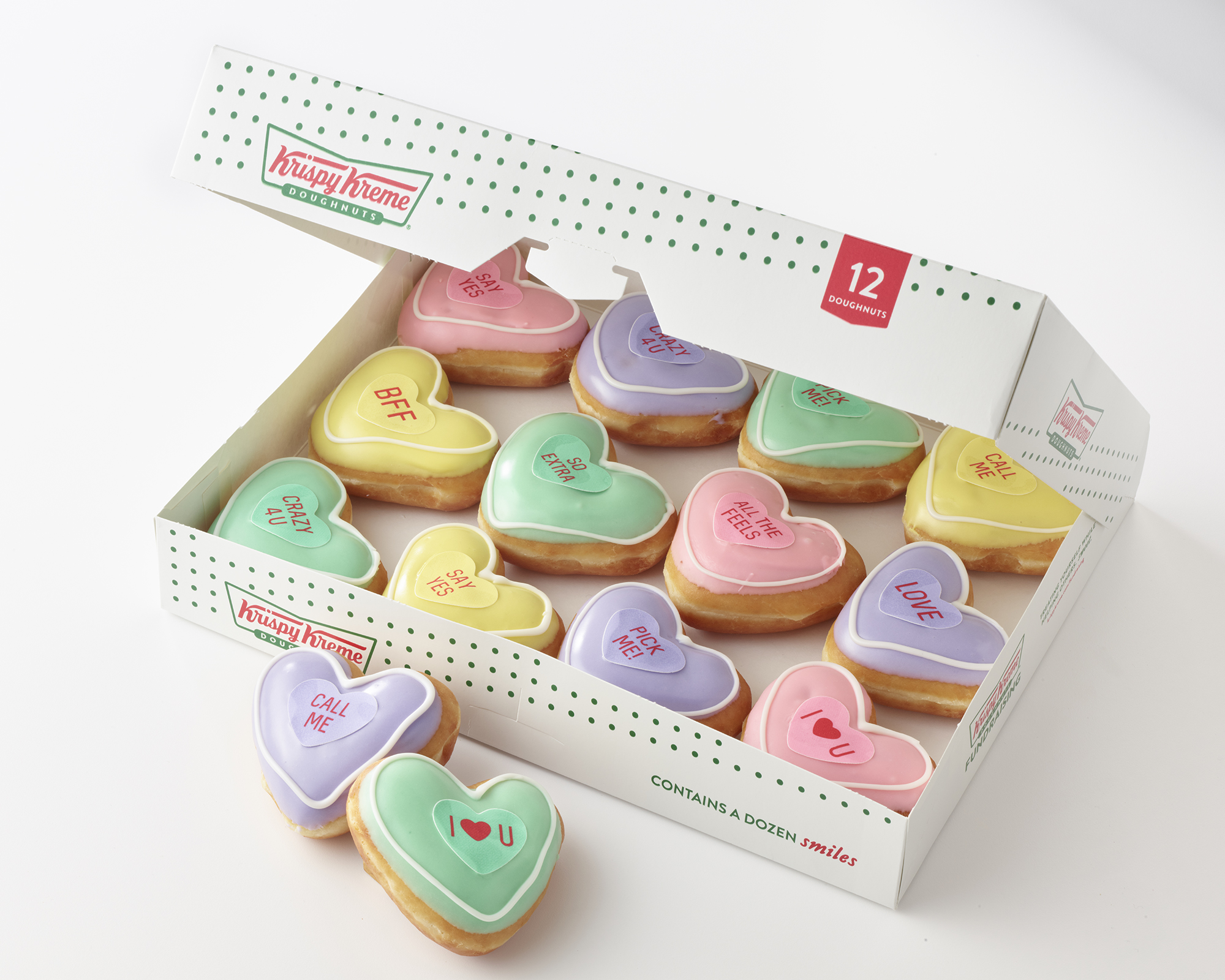 Krispy Kreme's Newest Doughnuts Are Giant Conversation Hearts, Basically