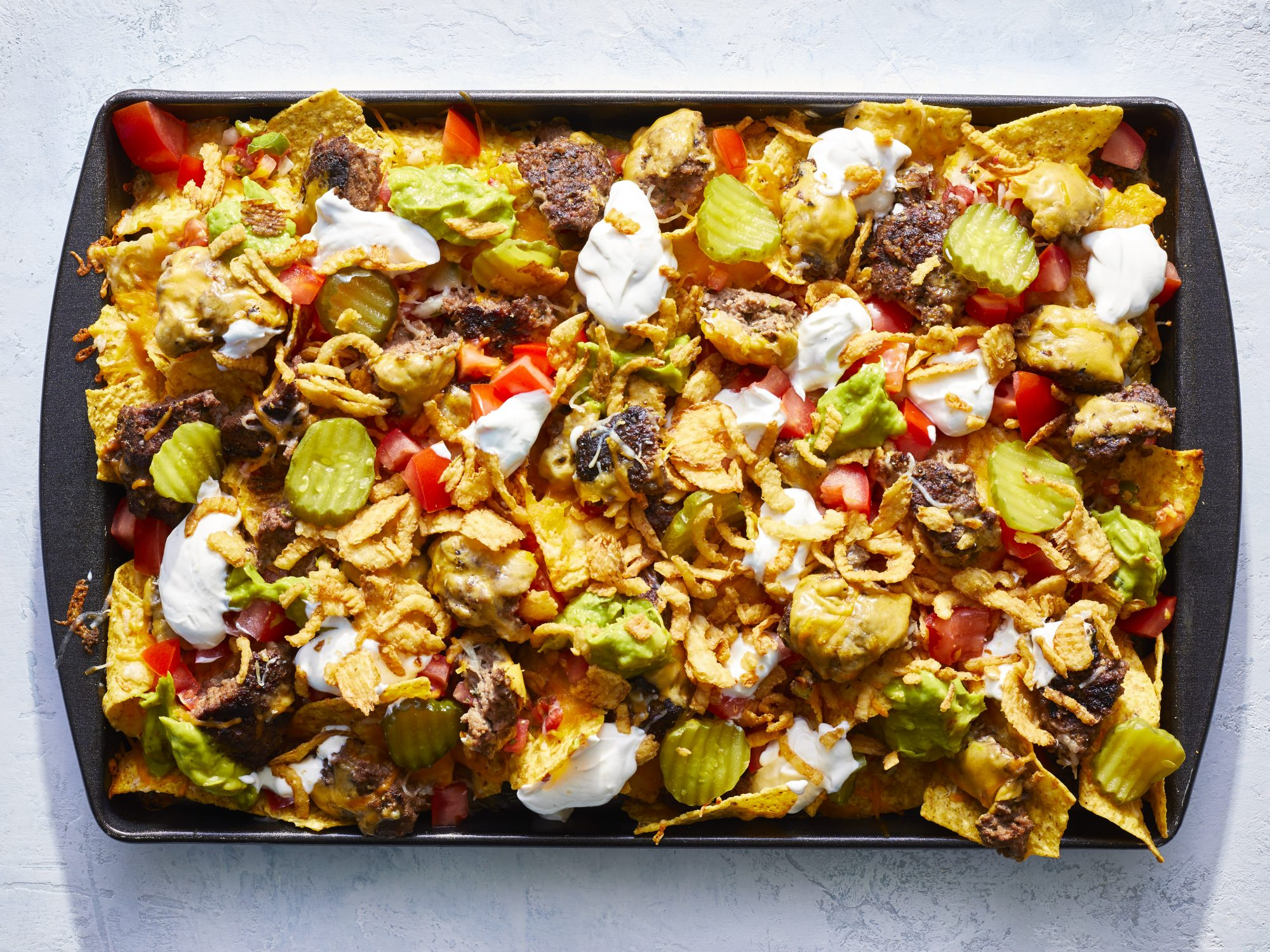 Grilled Cheeseburger Nachos image