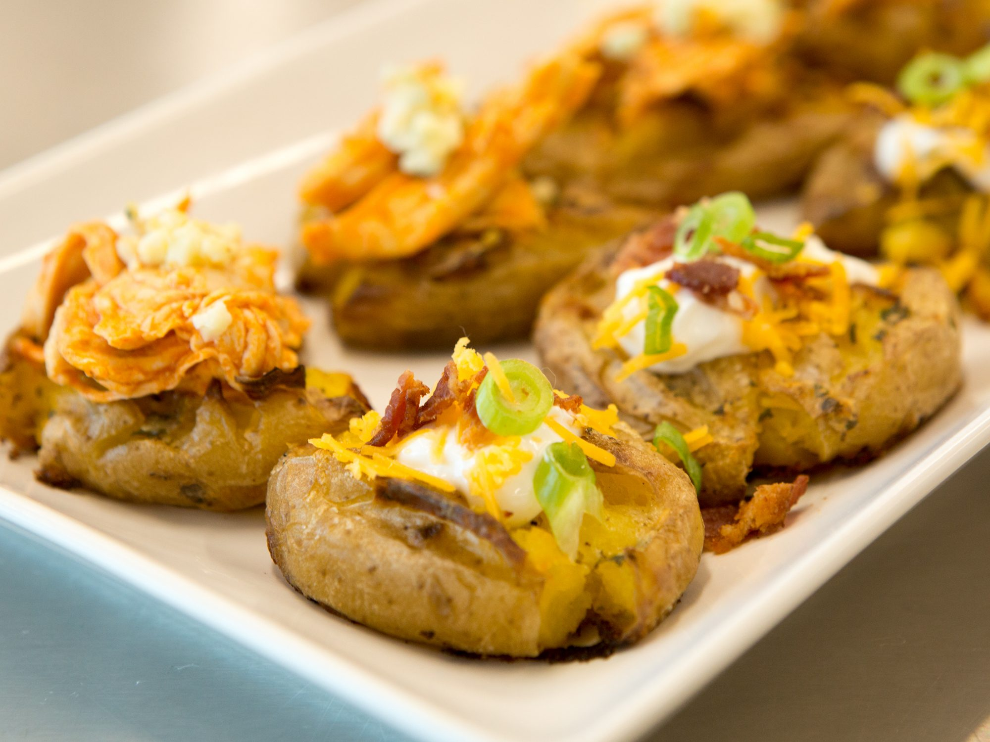 Ultimate Crispy Ranch Smashed Potatoes