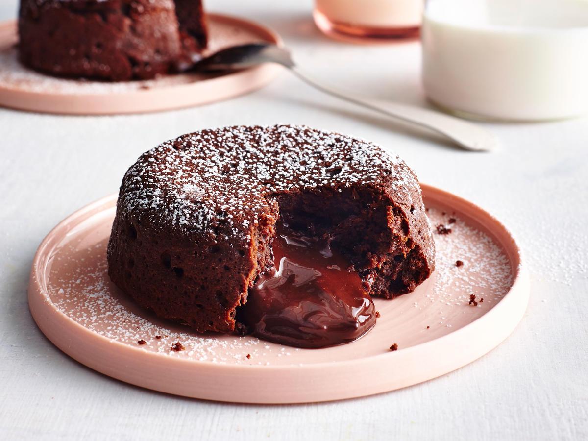Molten Dark Chocolate Cakes Recipe | MyRecipes