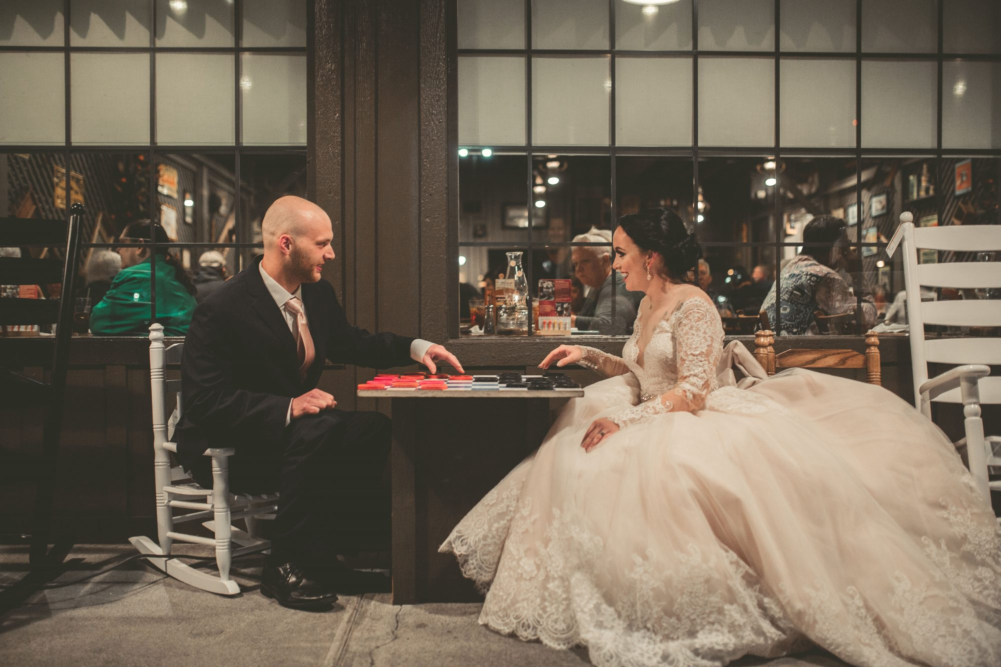 Why This Couple Took Their Wedding Photos at Cracker Barrel