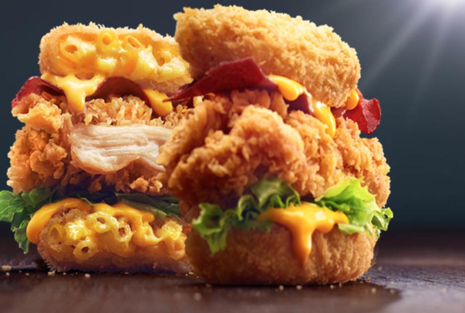 KFC mac and cheese bun