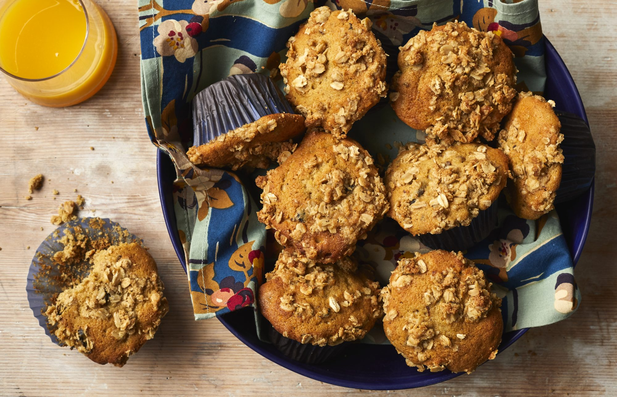 Toasted Oat and Prune Breakfast Muffins