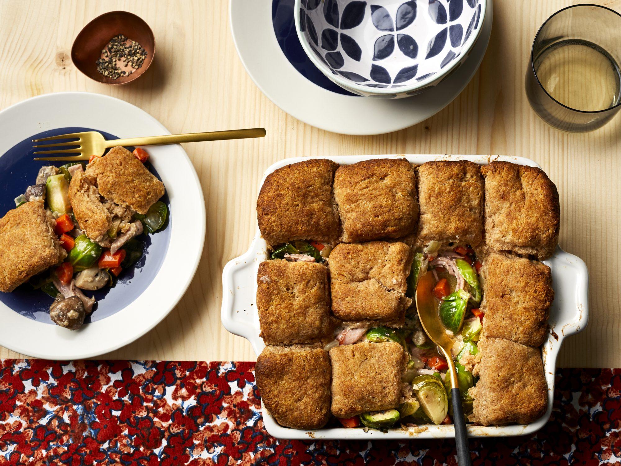 mr-Hearty TurkeyPot Pie with Spelt Biscuits Image