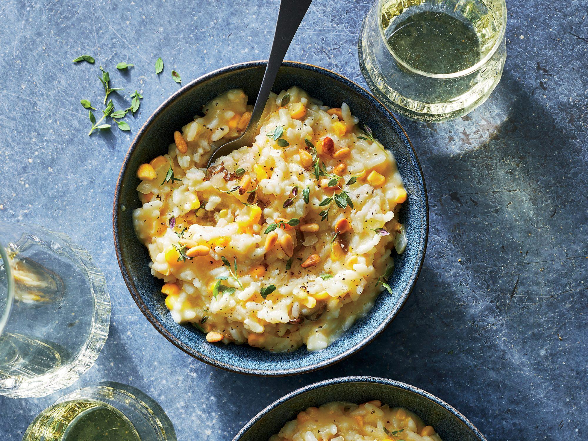 Creamy Corn-mushroom Risotto