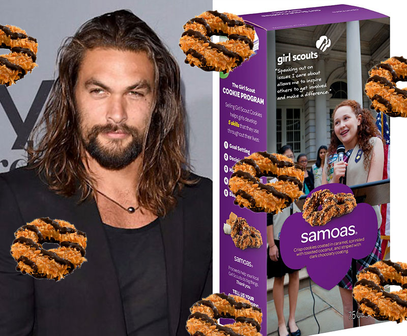 Jason Momoa Responded To The Genius Girl Scout Who Rebranded Samoas