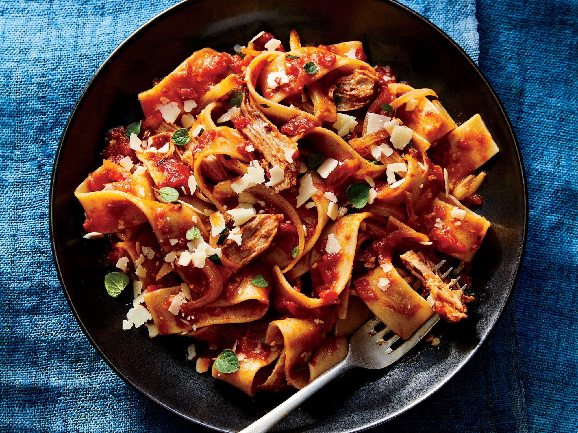 Savory Pork Ragù with Pappardelle