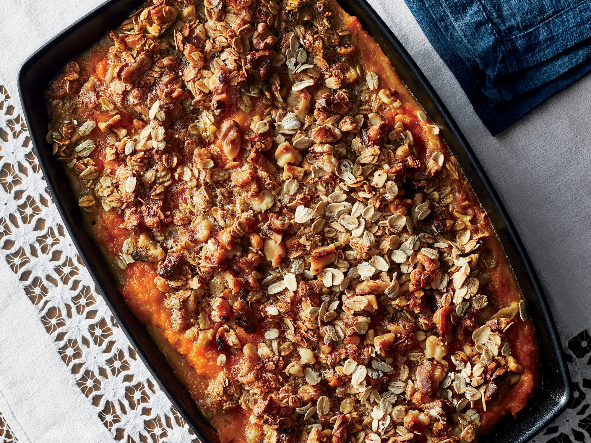Lower-Sugar Sweet Potato Casserole