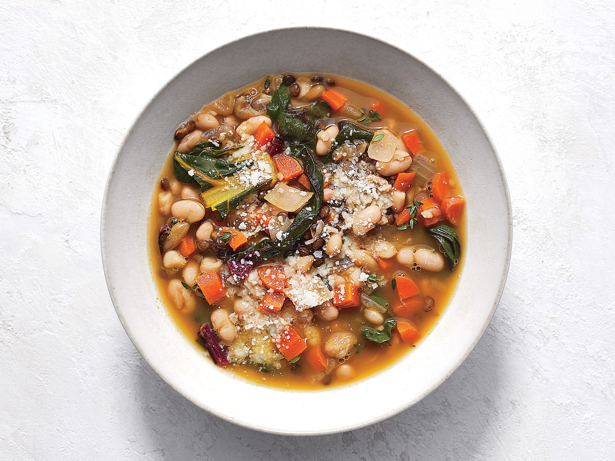 Tuscan White Bean and Lentil Soup