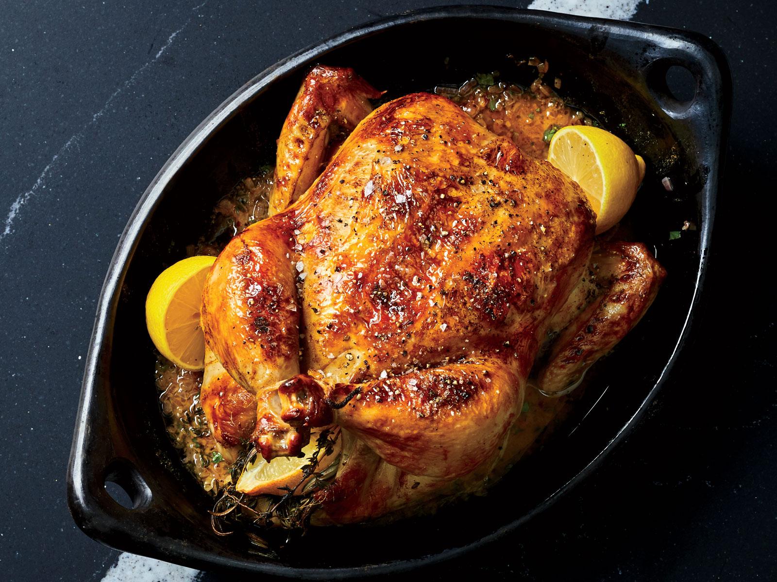 Juicy Lemon-and-Herb Roast Chicken