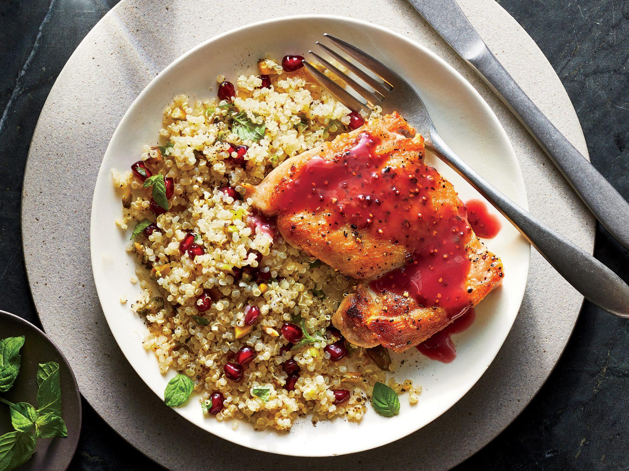 Pomegranate-Glazed Chicken