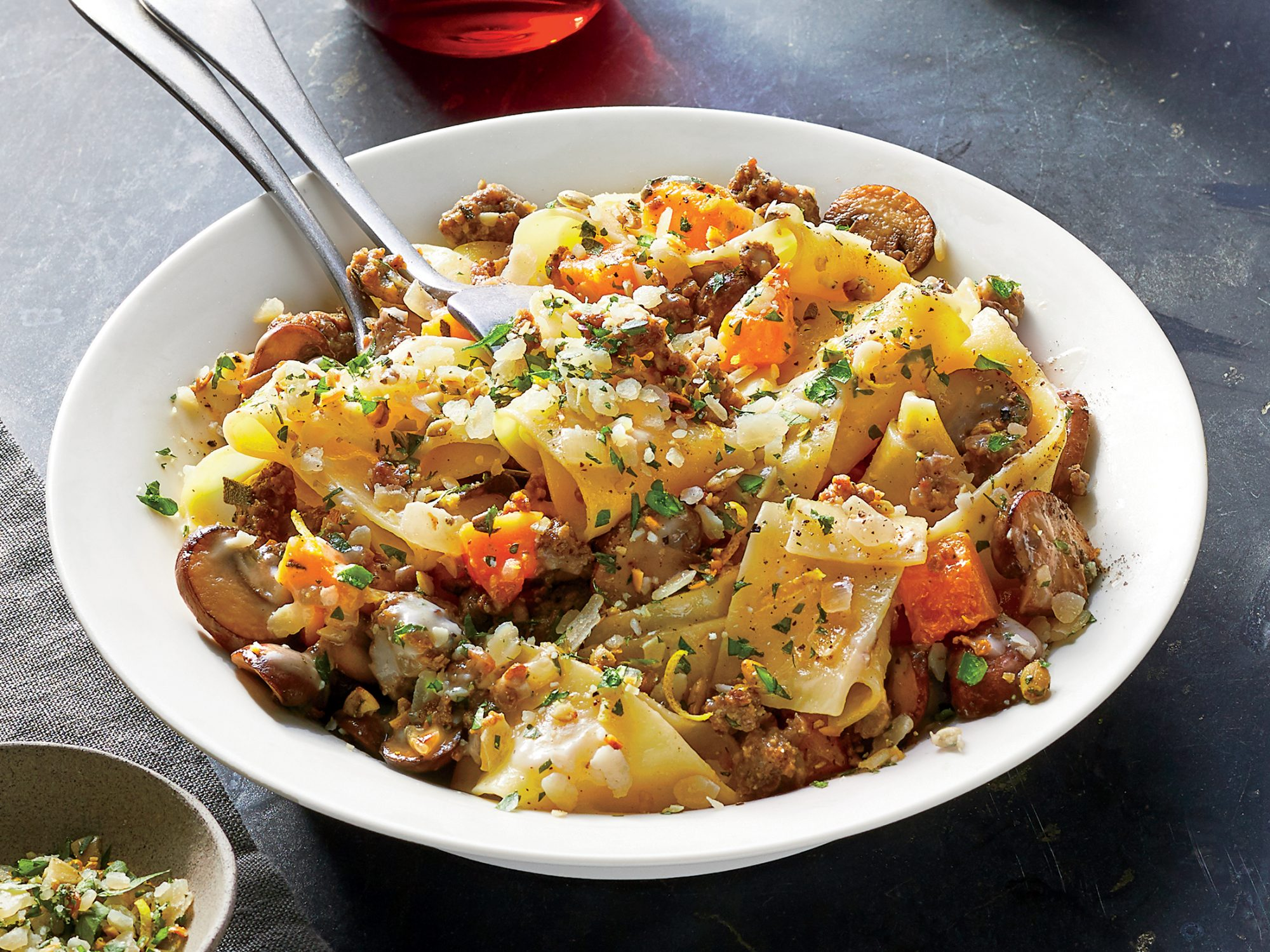 Sausage and Mushroom Pasta With Butternut Squash