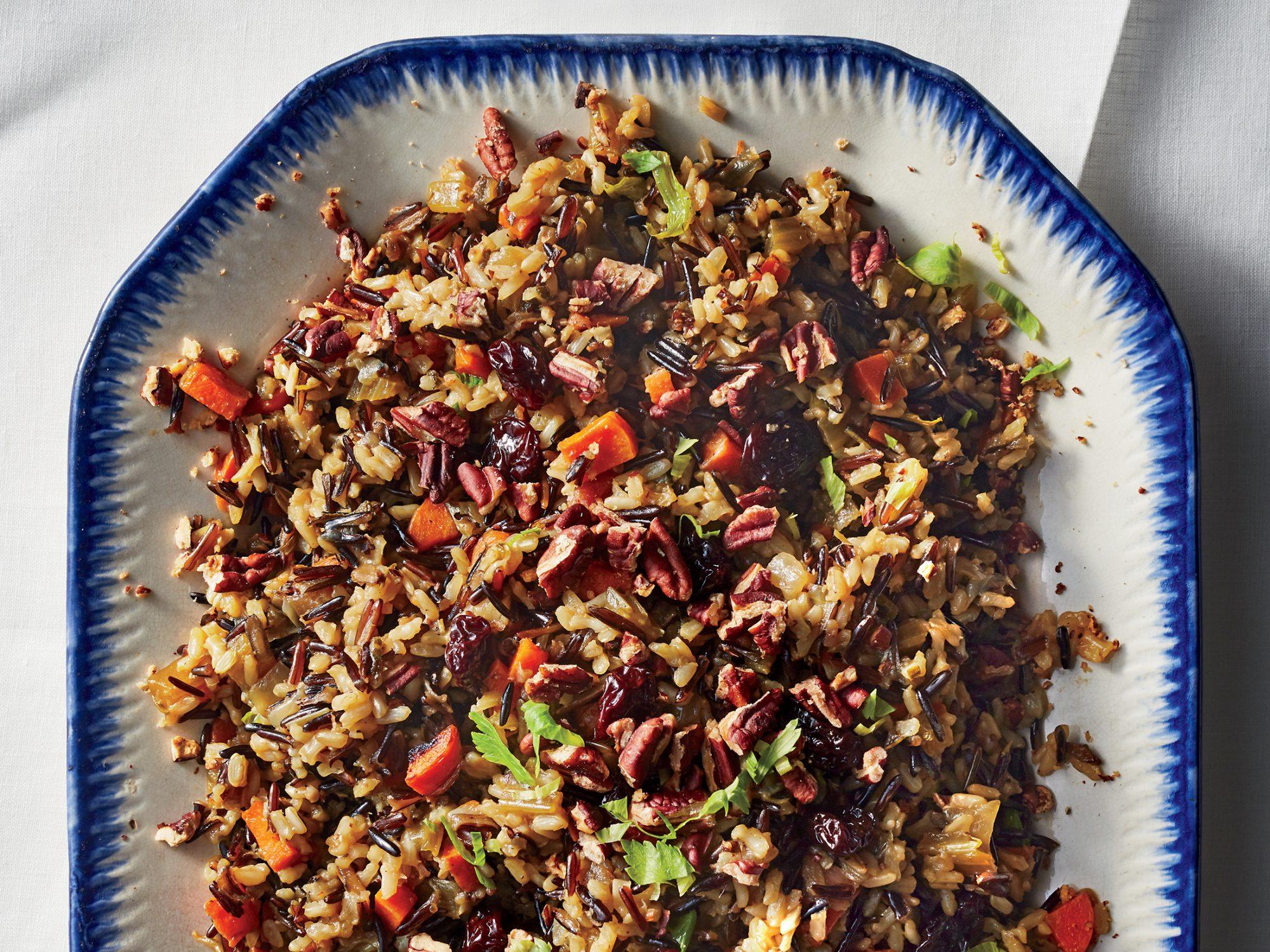 Wild Rice–Pecan Stuffing