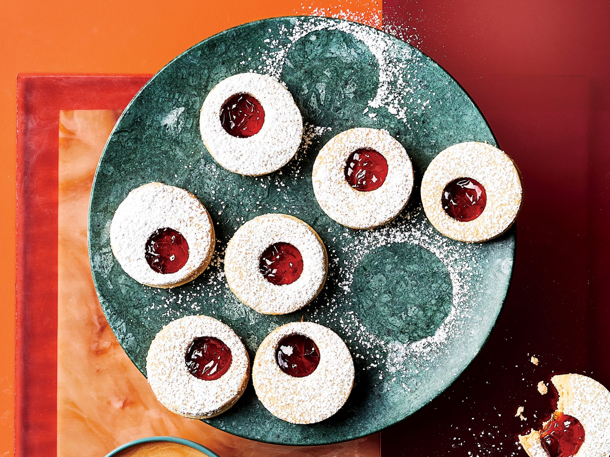 Almond-Currant Linzer Cookies