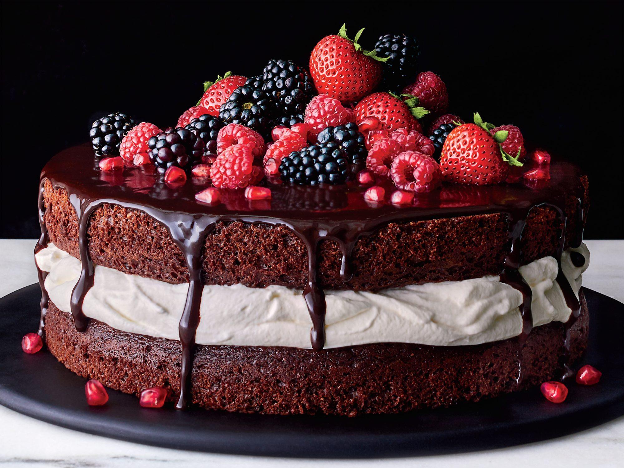Chocolate-and-Cream Layer Cake