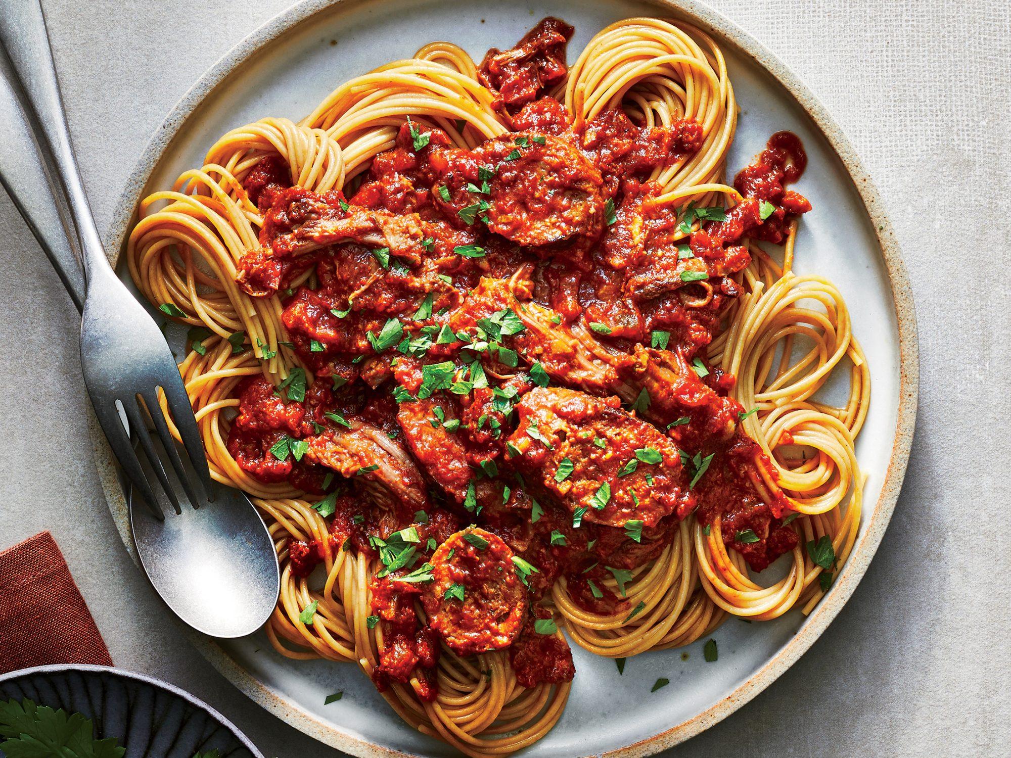 Pasta with Italian Sunday Sauce