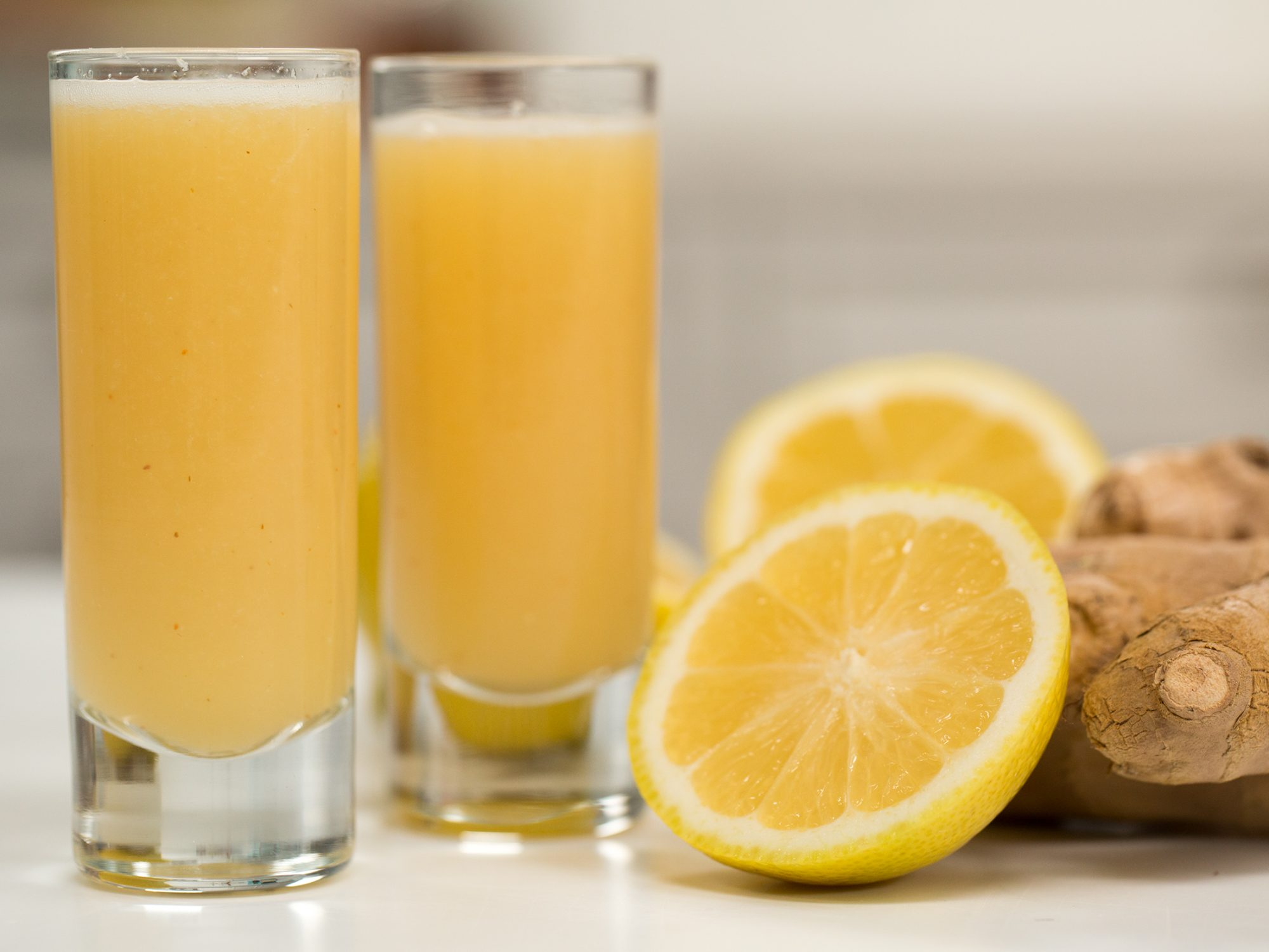 Ginger Lemon Wellness Shots