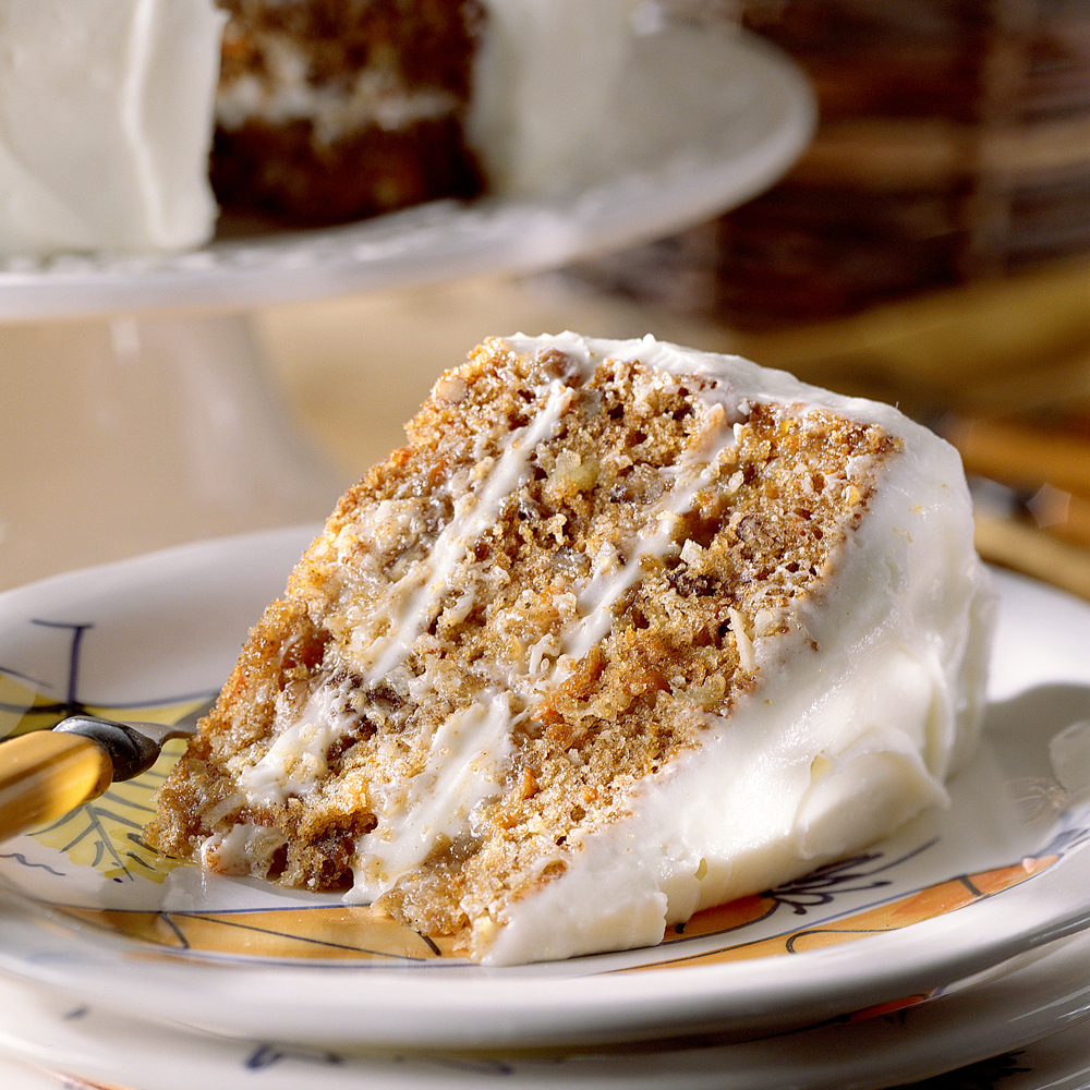 Carrot And Pecan Cake With Cream Cheese Frosting