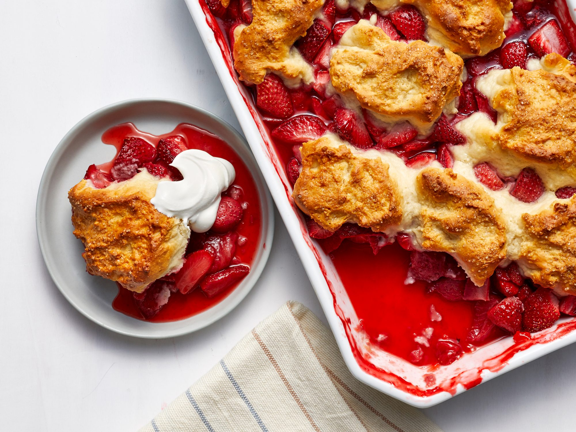 Celebrate Almost-Spring by Making Super Easy Strawberry Cobbler
