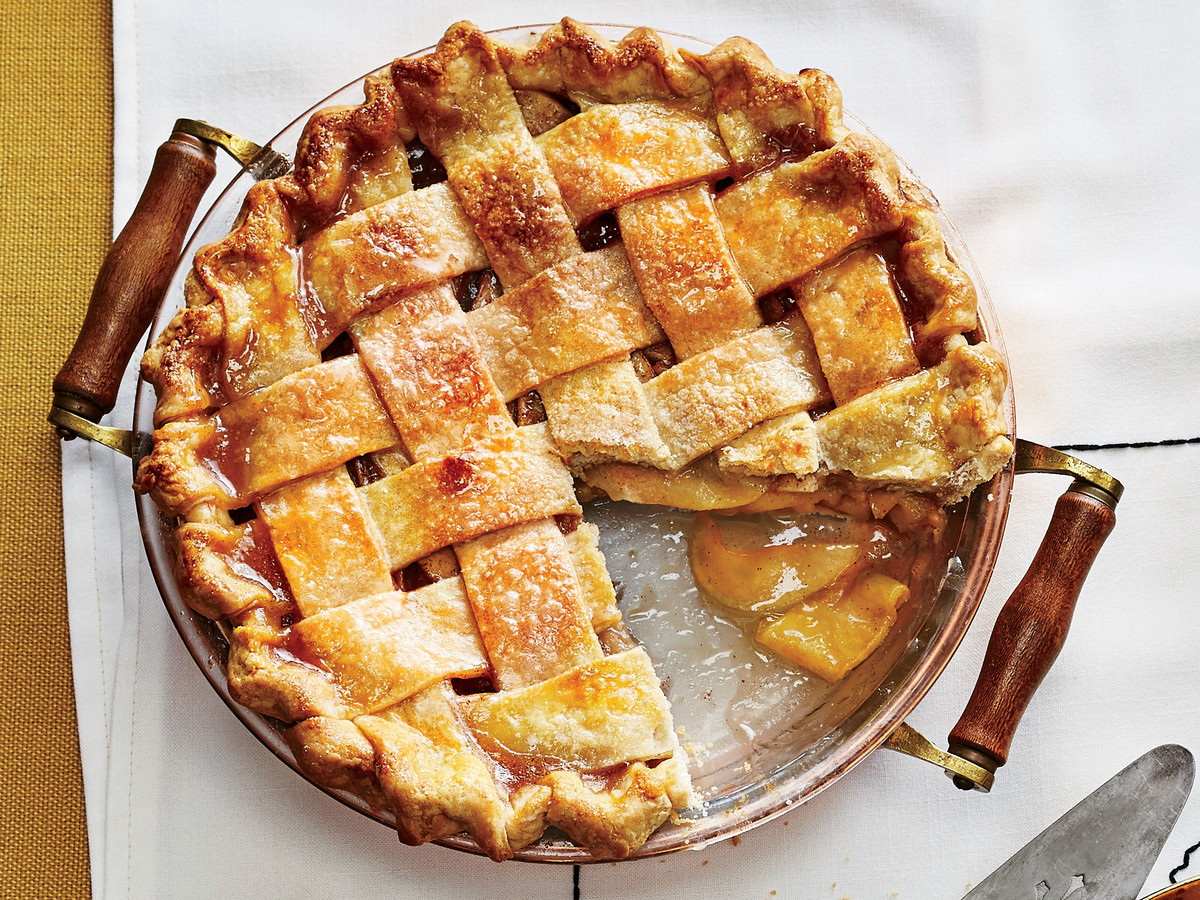 Arkansas Black Apple Pie with Caramel Sauce
