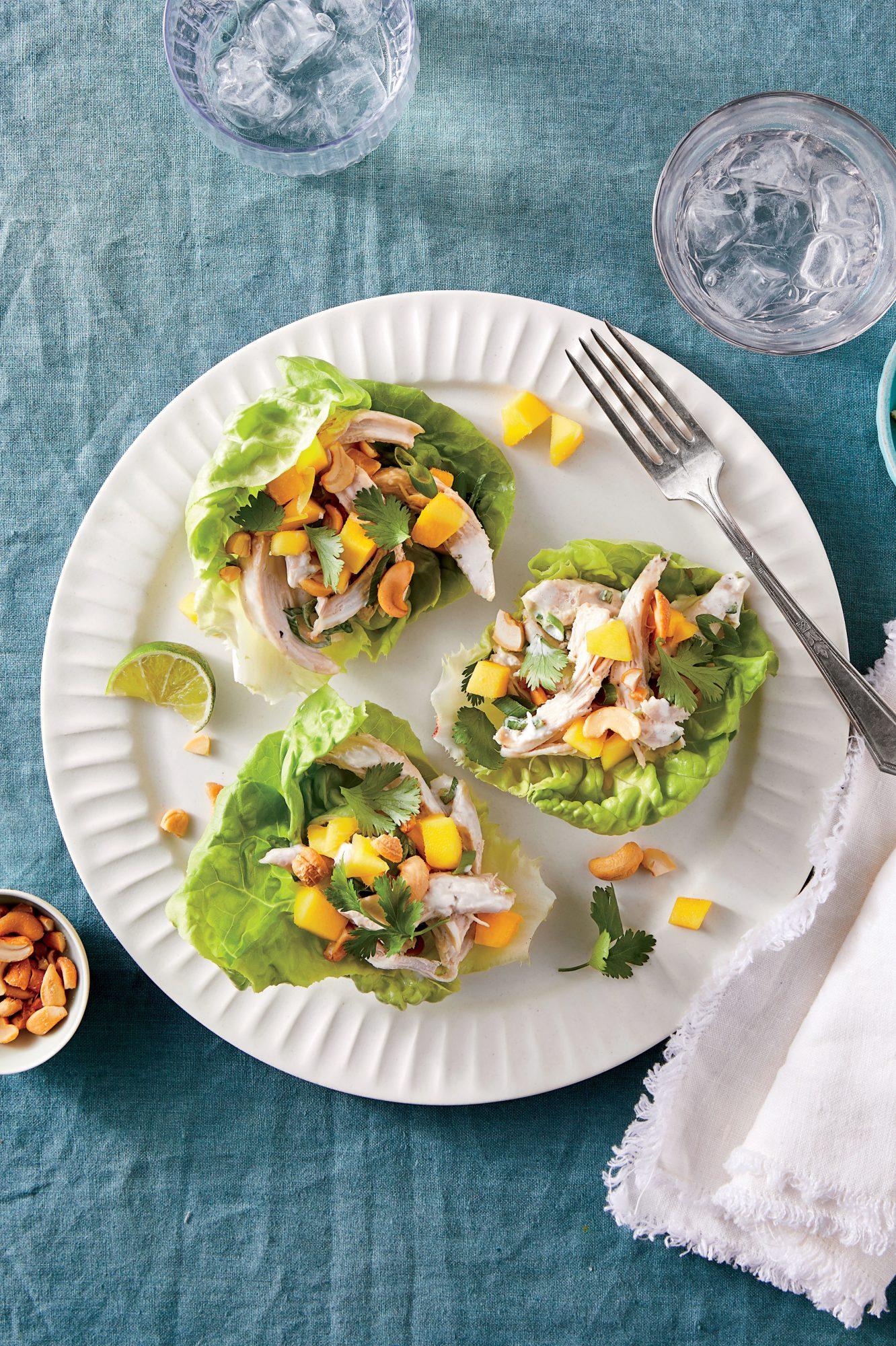 Tropical Chicken Lettuce Wraps