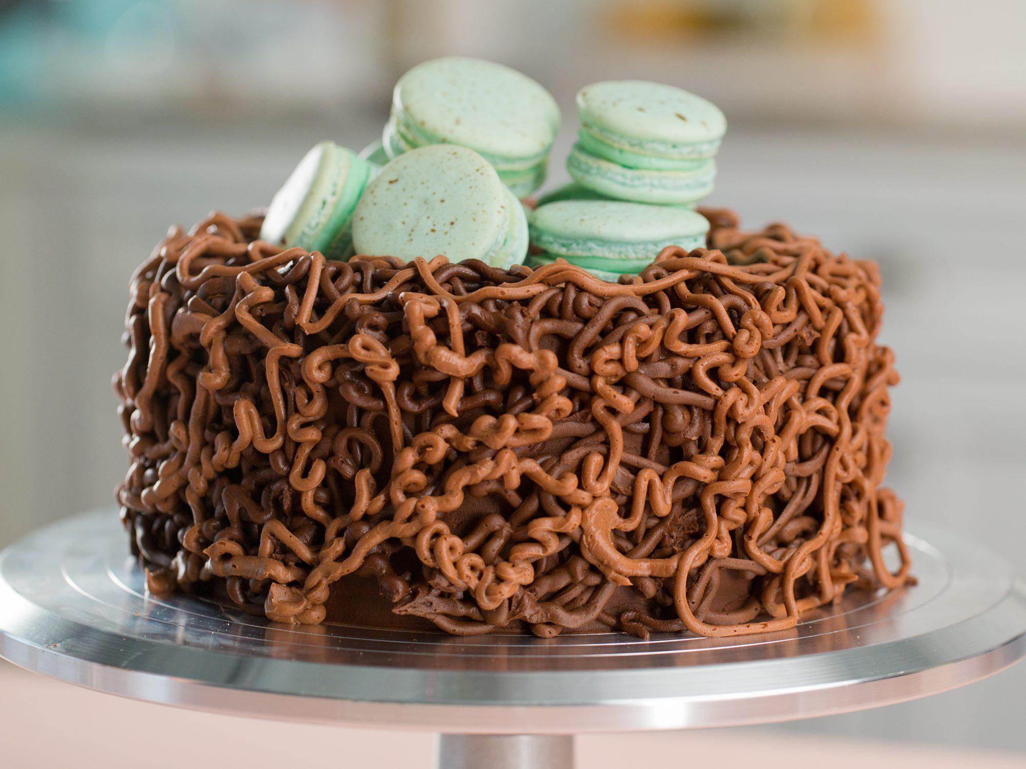 Speckled Egg Nest Cake image