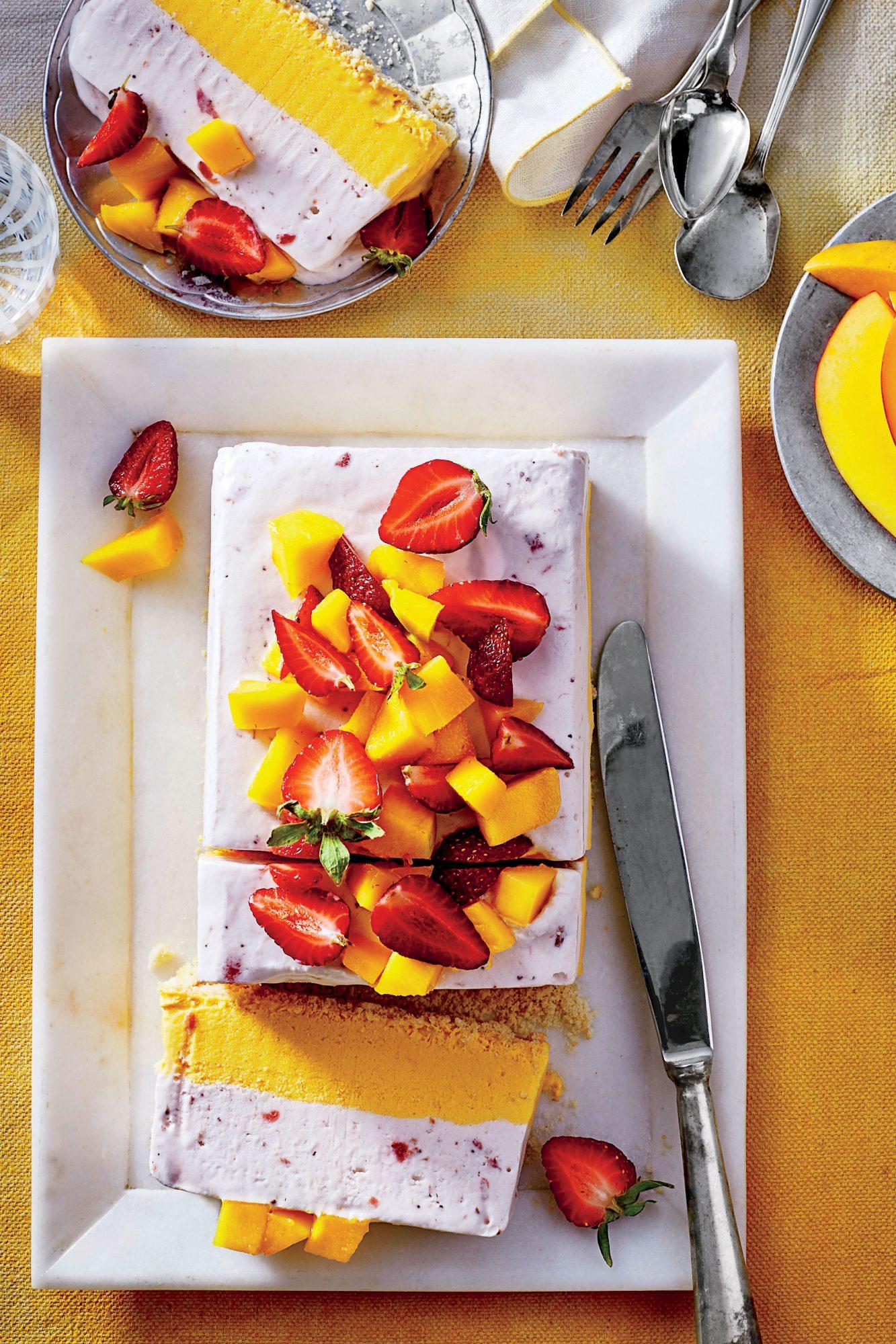 Strawberry-Mango Semifreddo