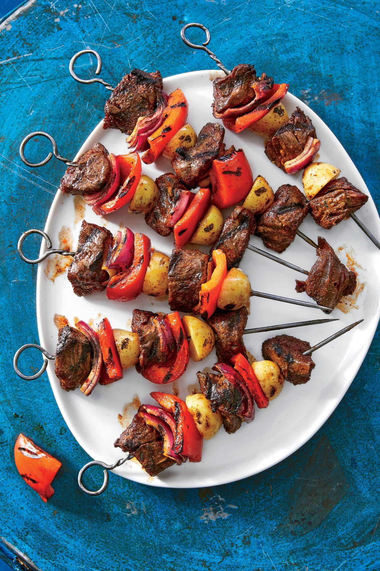 Steak-and-Potato Kebabs
