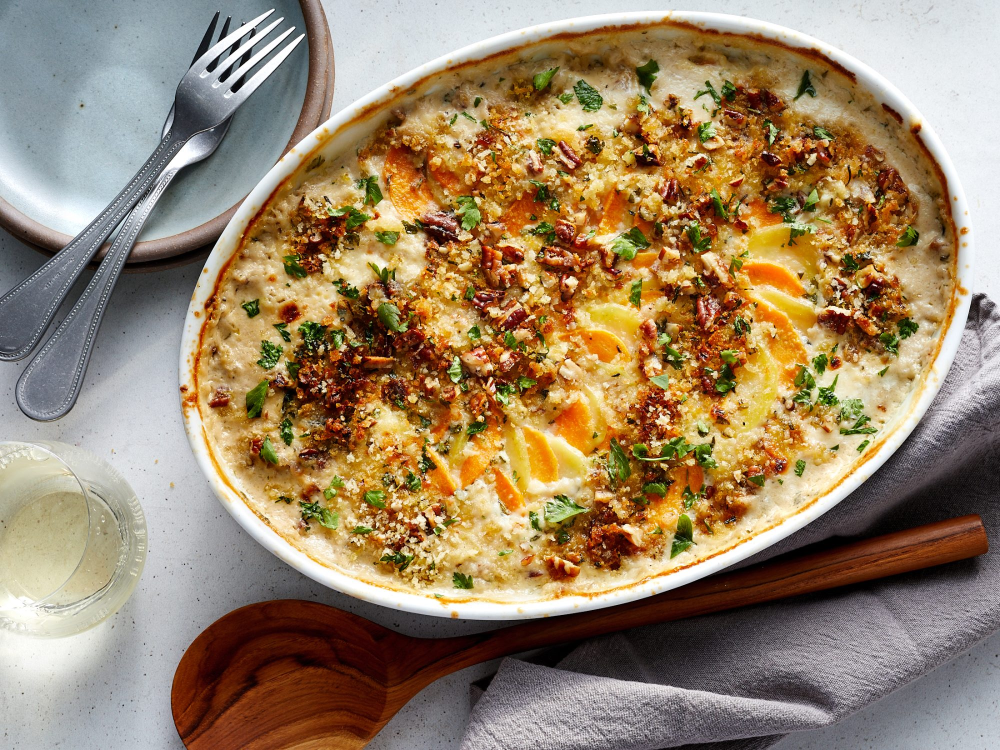 Two-Toned Scalloped Potatoes