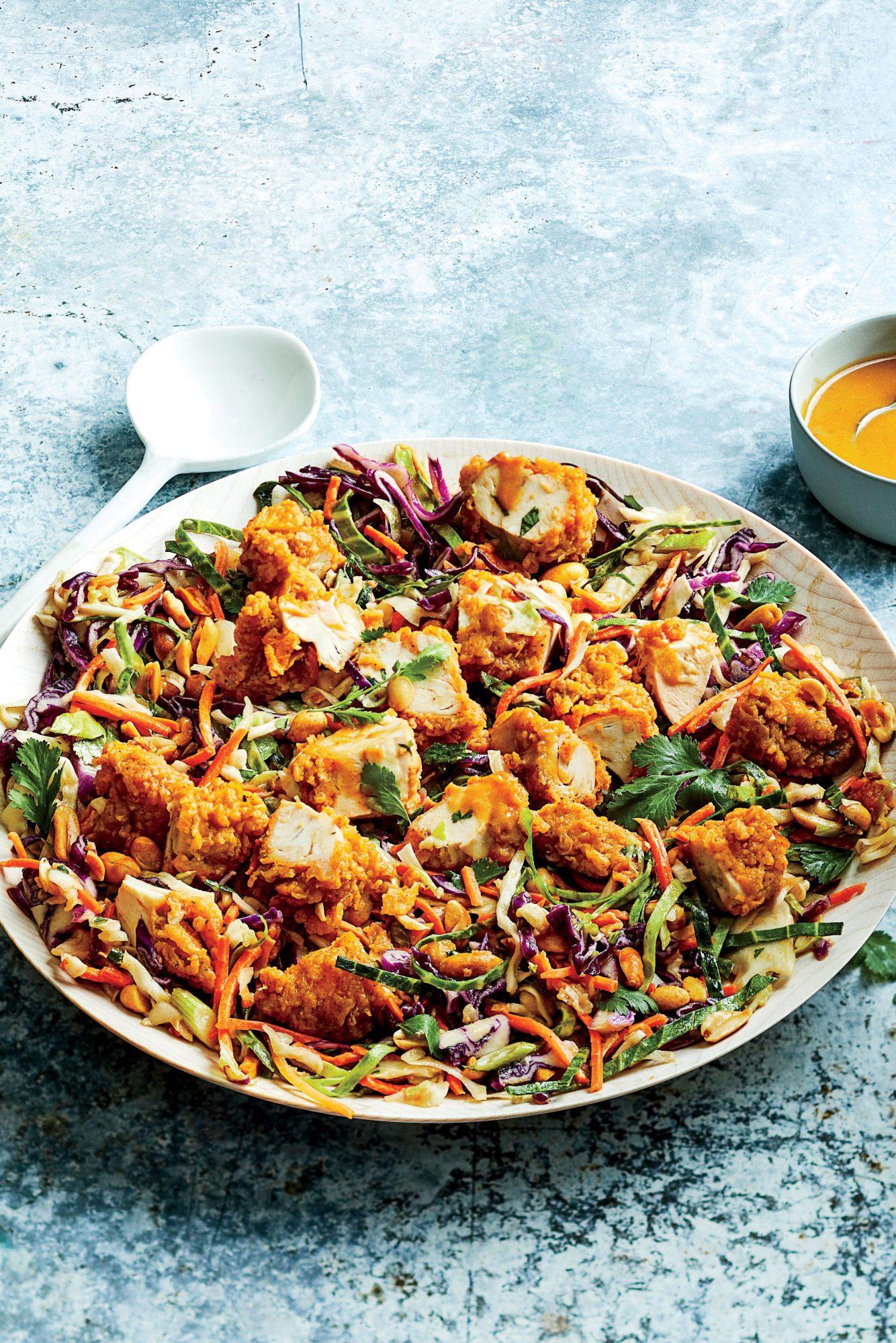 Crunchy Chicken-Peanut Chopped Salad