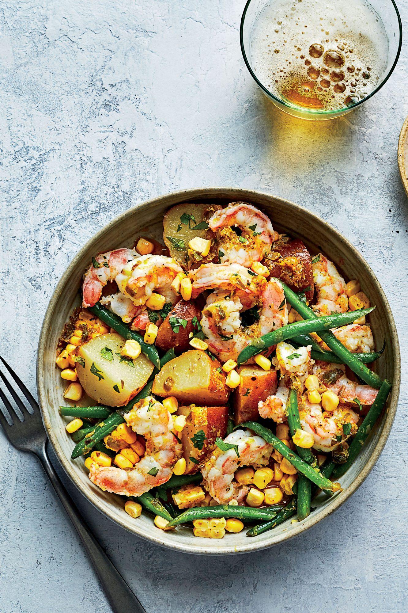 Shrimp Boil Vegetable Bowls
