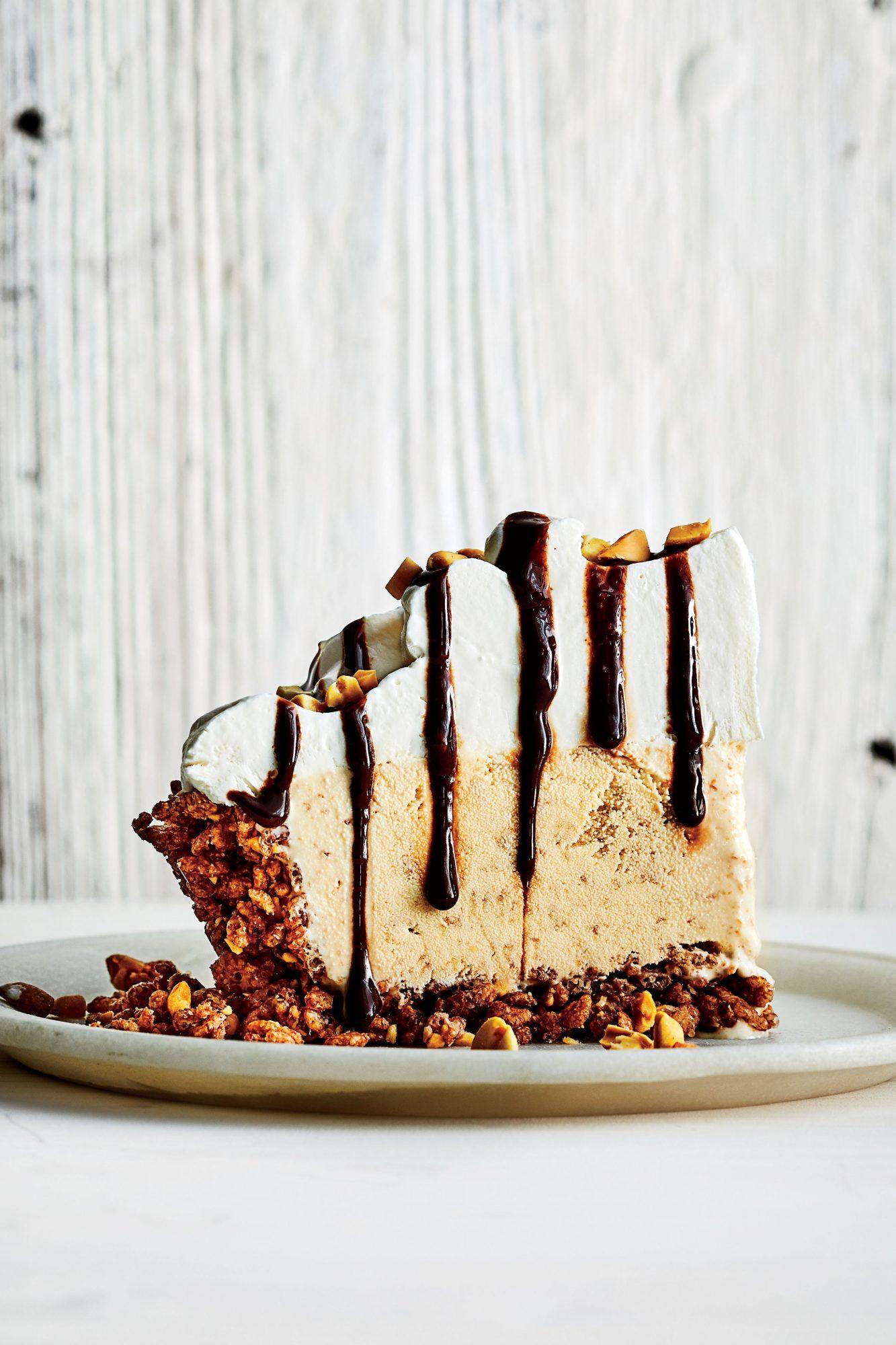 No-Bake Peanut Butter-Fudge Ice-Cream Pie