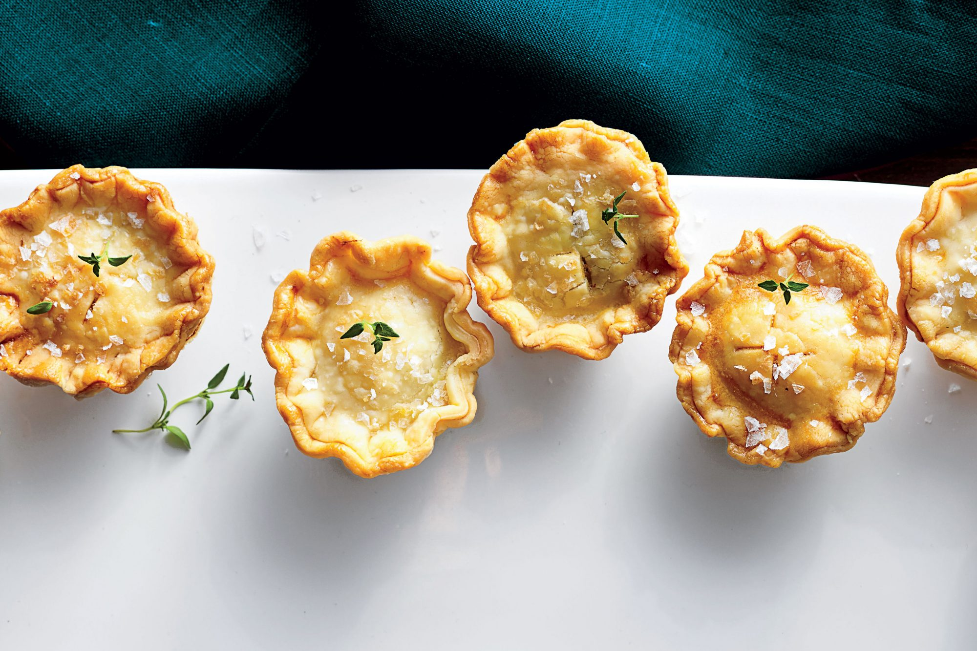 Mini Mushroom-and-Goat Cheese Pot Pies