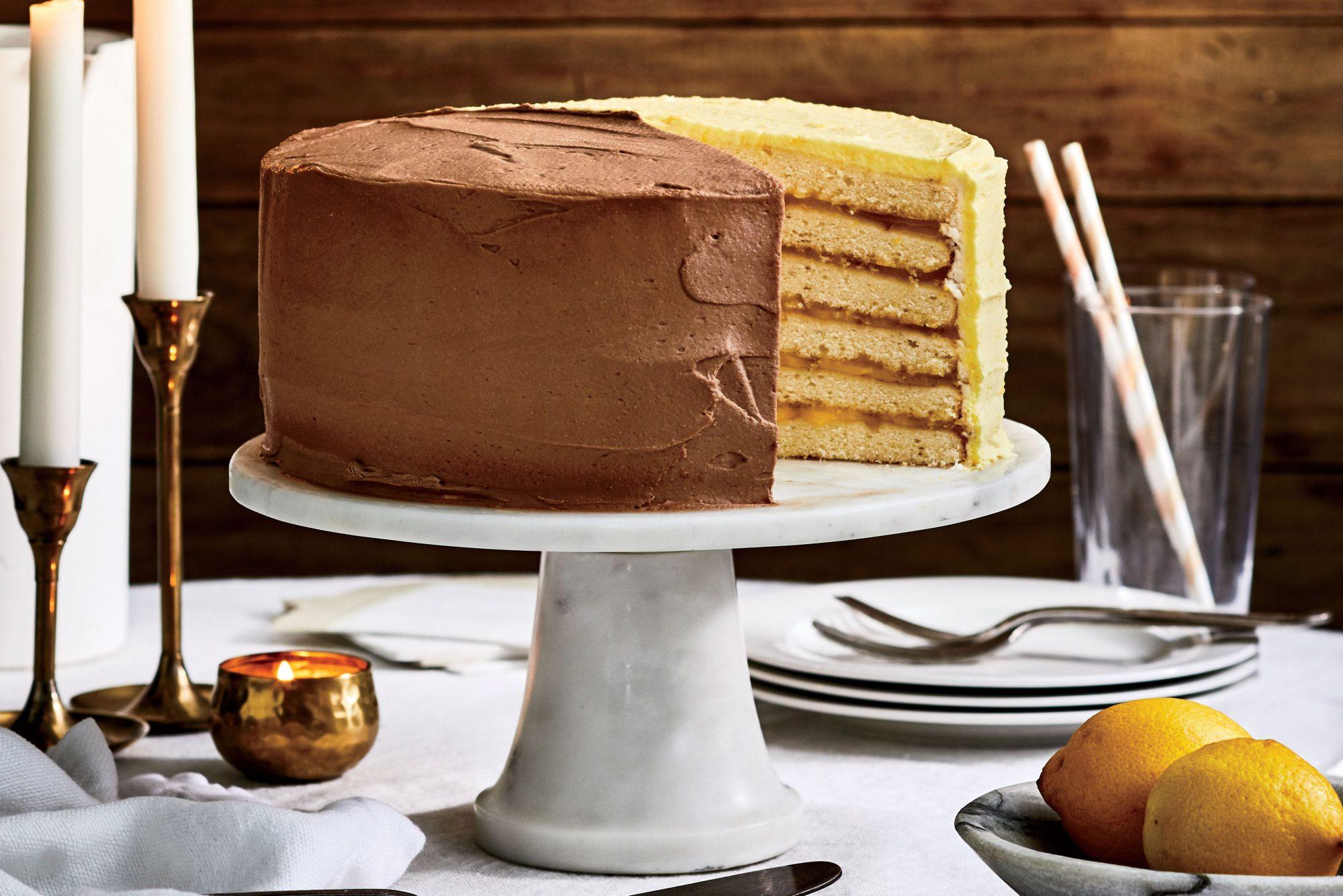 Lemon-and-Chocolate Doberge Cake