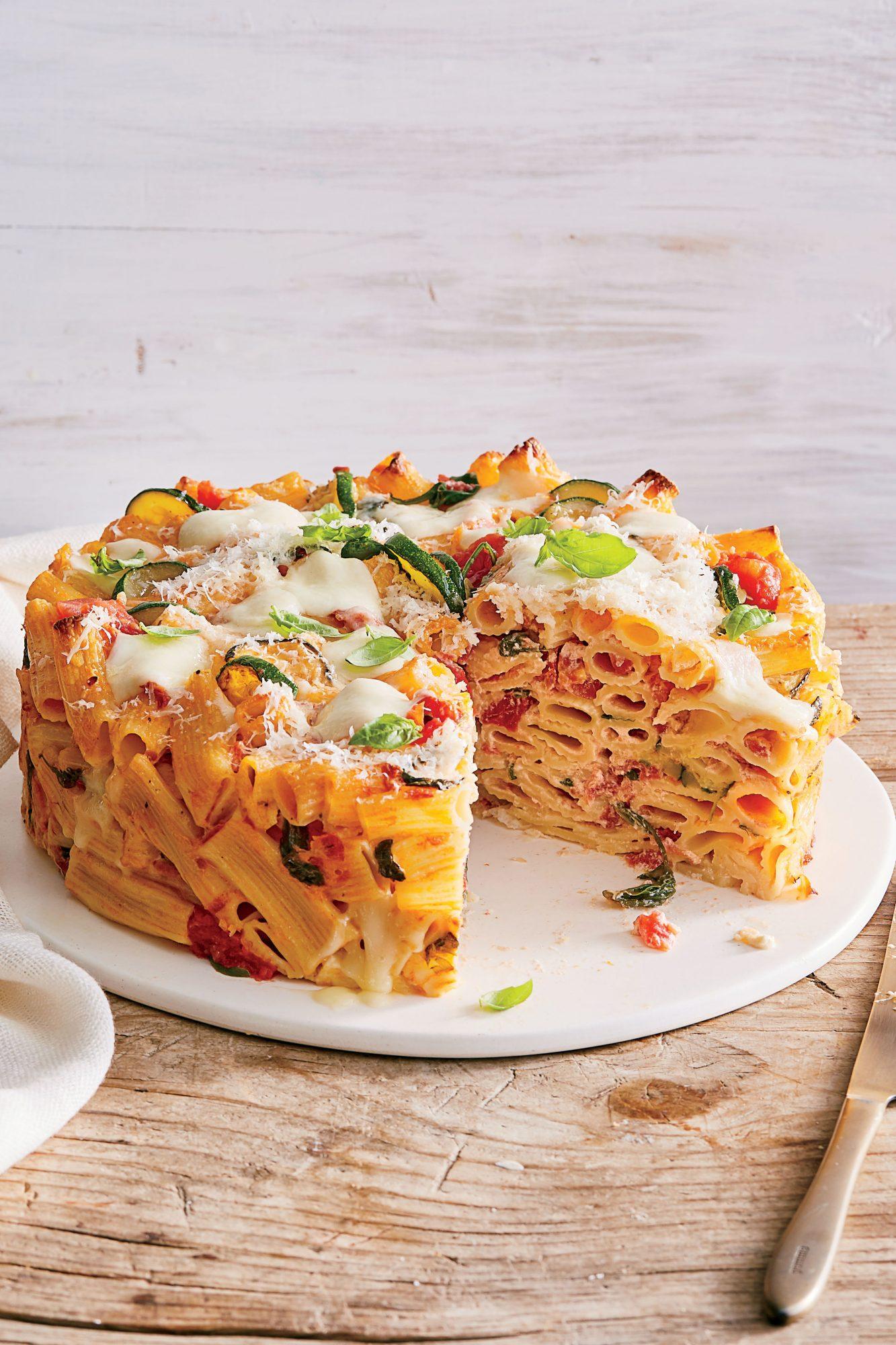 Baked Rigatoni with Zucchini and Mozzarella