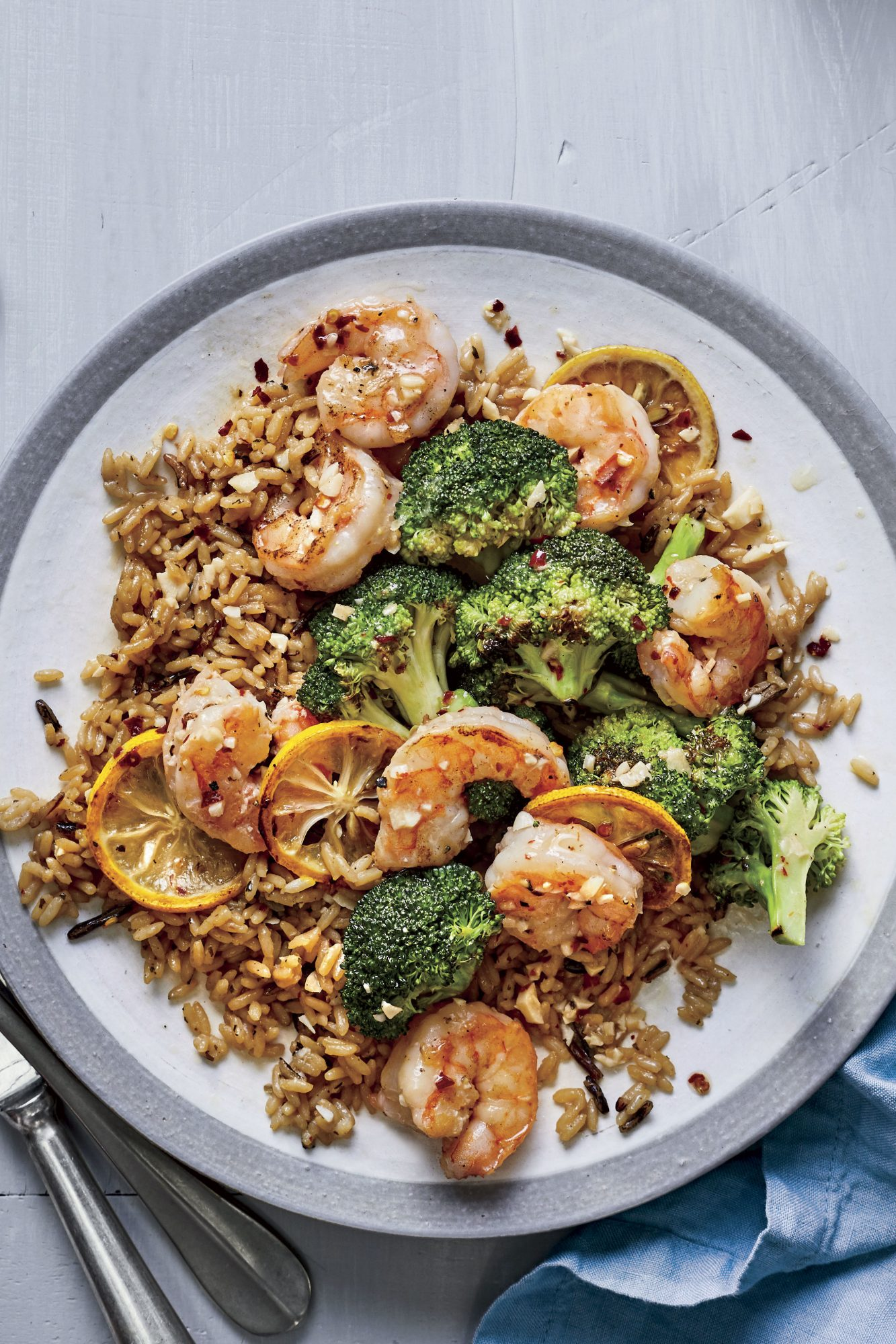 Lemon-Garlic Butter Shrimp and Broccoli