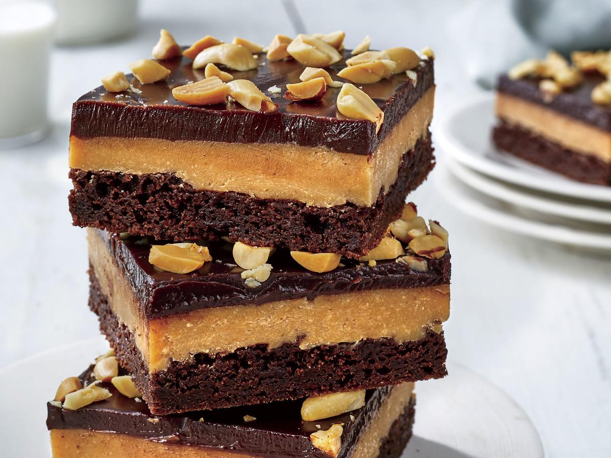 Chocolate Peanut Butter-Fudge Bars
