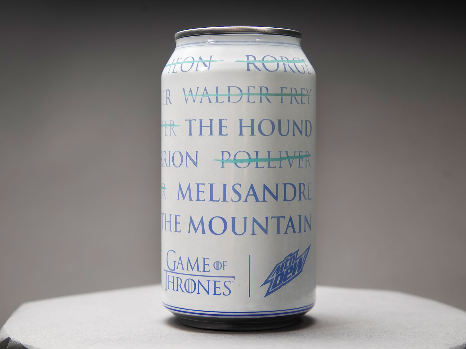 Mountain Dew Cans Turn White for 'Game of Thrones'