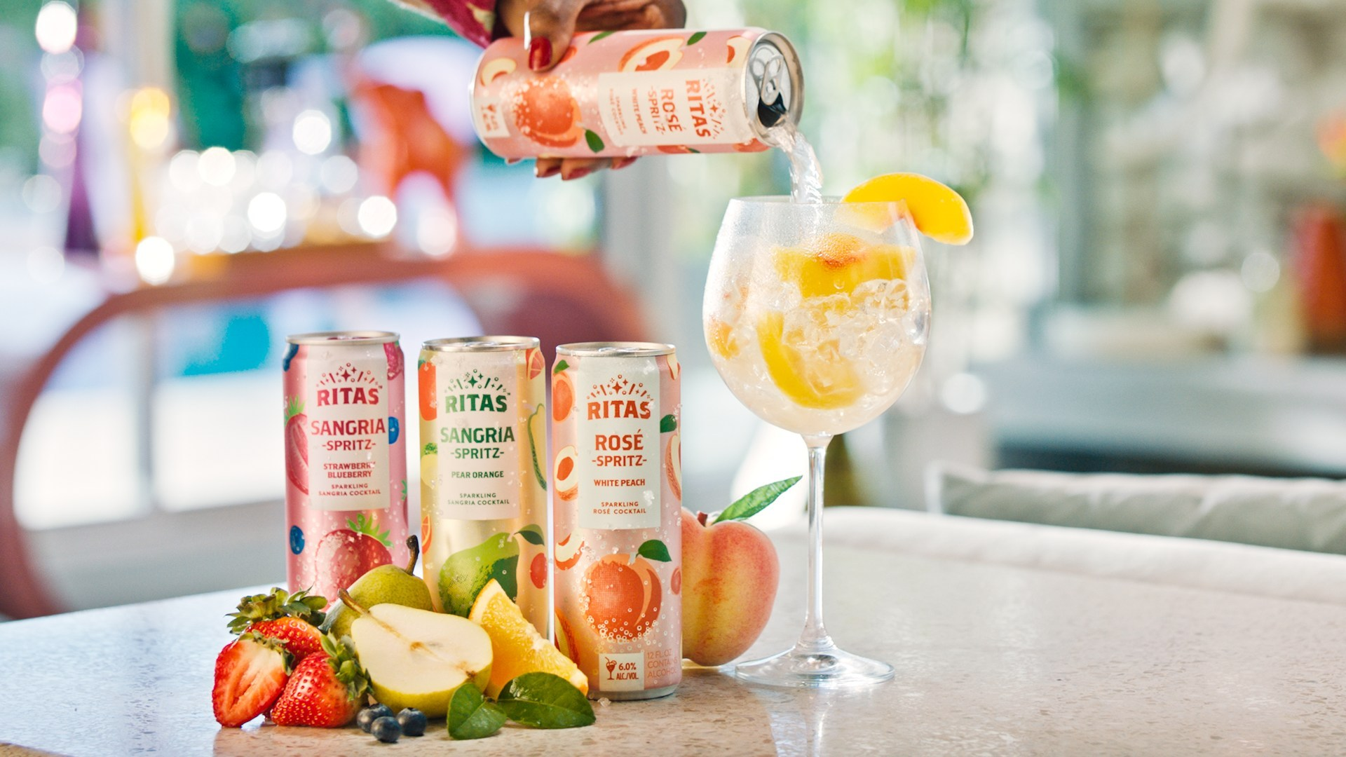 Rita Spritz Canned Wine Cocktails Are Perfect for Poolside Sipping
