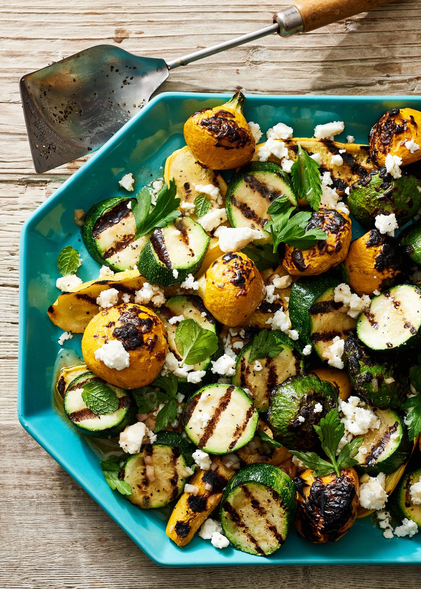 Minty Grilled Summer Squash image