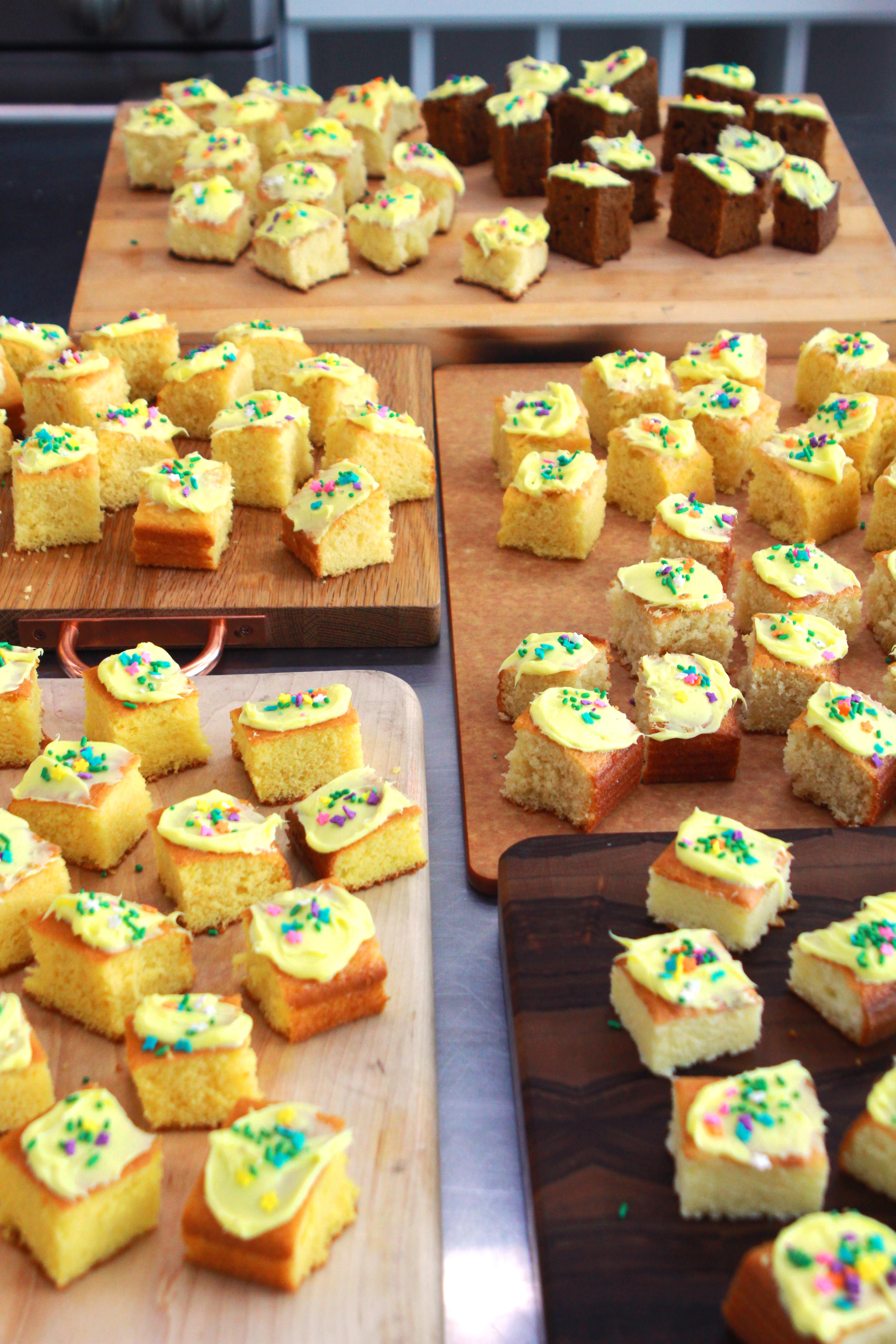 yellow cake table
